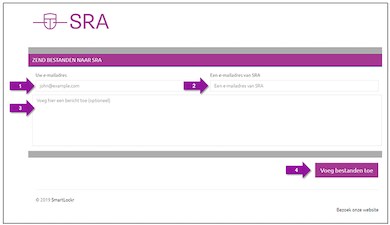 SRA uploaddienst